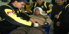 إصابة 17 شخصا من مشجعي النادي المكناسي بسبب انهيار سياج حديدي بالملعب الشرفي بمكناس