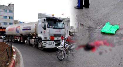 شاحنة لنقل الوقود تفجر رأس رجل خمسيني بدهسه وسط الناظور