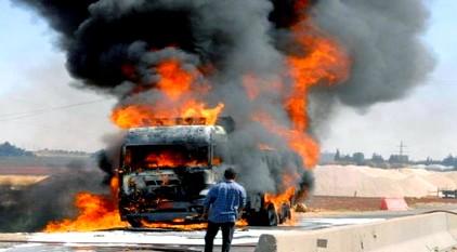 حريق مهول يشب في شاحنة ببني درار