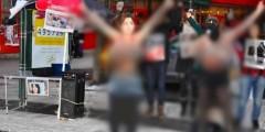 السويد: ناشطات إيرانيات ينفذن وقفة تعري احتجاجية ضد الحجاب