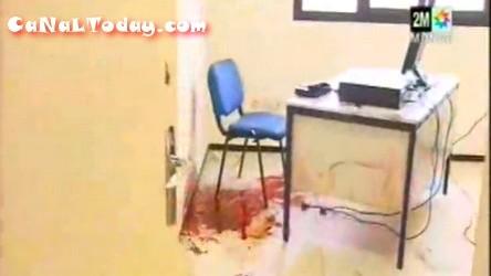 الدماء التي سفكها شرطي وهو يرمي زملاءه بالرصاص في مركز للشرطة + فيديو