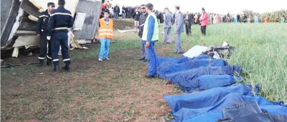 سبعة قتلى في حادثة سير بسيدي بنور