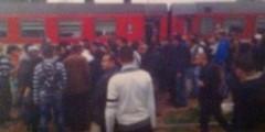 عصابة ملثمين تفجر قنبلة للسطو على قطار بالقنيطرة