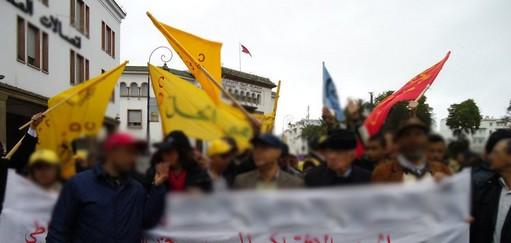 البيضاء : وفاة متظاهر أثناء مشاركته في وقفة إحتجاجية على الإقتطاع من أجرته