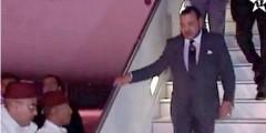 ملك المغرب محمد السادس يعود إلى بلده بعد زيارته الإفريقية