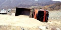 شاحنة رمال بالناظور تقتل امرأة على مرأى ومسمع من طفليها