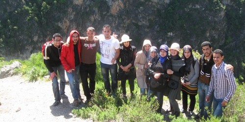 تنظيم رحلة إلى شلالات أقشور من طرف طلبة الماستر بكلية العلوم بتطوان