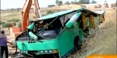 بالفيديو… انقلاب خطير لحافلة تقل الركاب بمكناس..