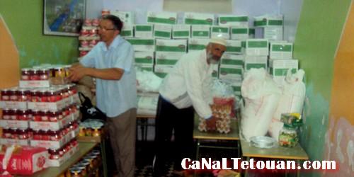 حملة تضامنية مع الاسر المعوزة خلال رمضان لجمعية سيدي المنظري بتطوان