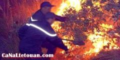 """حريق يلتهم المنتزه الحضري """"بيرديكاريس"""" بطنجة"""