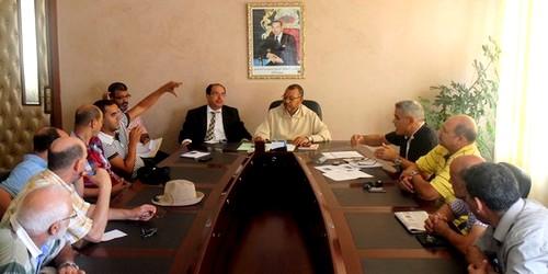 الجمعية السكنية بحي السواني يعقدون إجتماعا مع الجماعة الحضرية بتطوان