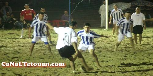 إنطلاق دوري الشاطئ لكرة القدم في كورنيش مرتيل