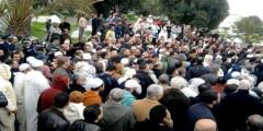 تشييع جنازة إمام مسجد ضحية جريمة قتل بشعة بطنجة