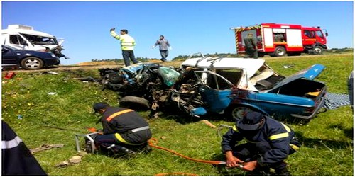 حادثة سير خطيرة تسفر عن وفاة شخص و3 مصابين بين طنجة وتطوان