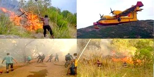 النيران تلتهم غابة بالناظور، وعمليات الإخماد بالطائرات والمروحيات !