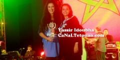 دنيا بوتازوت تكرم في مهرجان أصوات نسائية بتطوان تحت تصفيقات حارة !