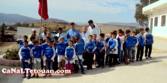 عملية توزيع المحافظ ولوازم مدرسية بنيابة اقليم تطوان