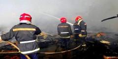 حريق مهول بمستودع سوق بمراكش بسبب تماس كهربائي