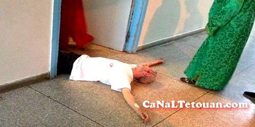 صورة لرجل ملقي على مستشفى سانية الرمل تؤجج غضب مشتركي الفايسبوك