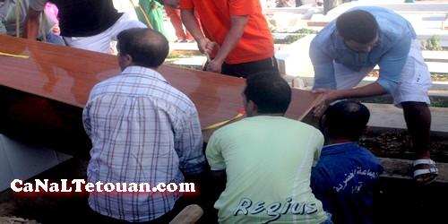 تشييع جثمان المرحومة سامية التشتاش في موكب جنائزي كبير !