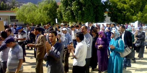 نيابة وزان تحت قصف احتجاجات النقابات التعليمية