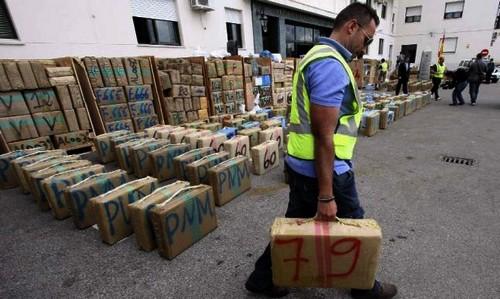 حجز 60 طنا من الحشيش وطنين من الكوكايين في الجزيرة الخضراء منذ مطلع السنة