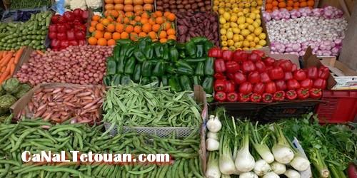 لائحة الخضر والفواكه بسوق الجملة للخضر والفواكه بتطوان