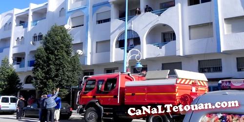 إندلاع حريق بأحد الشقق بعمارة في شارع مولاي رشيد بمرتيل