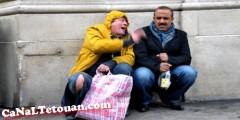 الكوميدي سعيد الناصري يمثل فيلم بمدينة تطوان