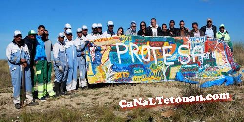 جمعية بروطيسا تقوم بحملة لتنظيف منطقة الواد المالح بمرتيل
