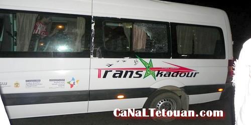 تعرض حافلة جمهور المغرب التطواني لهجوم من طرف عناصر إجرامية بالرباط