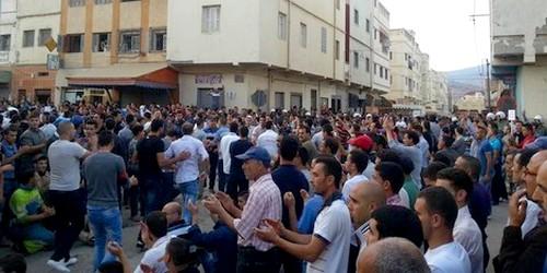 طلبة من تارجيست يحتجون بمدينة طنجة