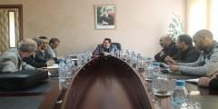 اجتماع مع المدير الإقليمي للجمارك والضرائب الغير المباشرة والمندوب الإقليمي لوزارة النقل