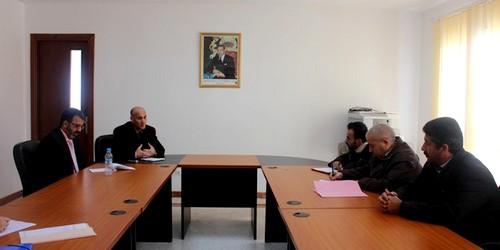 اجتماع مع المكتب المحلي لاتحاد العام للشغالين بقاعة الجماعة الحضرية