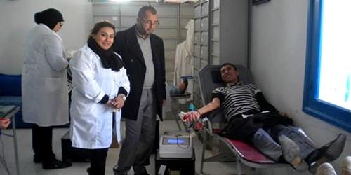 جمعية ابتسامة المتبرعين بالدم تمودة بي بالمضيق تنظم حملة للتبرع بالدم