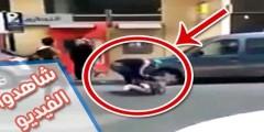 شفار مغربي في عز النهار وأمام أعين الجميع يسرق حقيبة فتاة و الناس يتفرجون ! (فيديو)