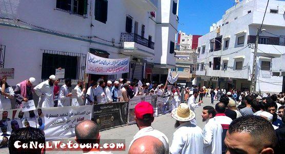 وقفة احتجاجية بعد صلاة الجمعة بتطوان تطالب باطلاق سراح المعتقلين في أحداث 16 ماي