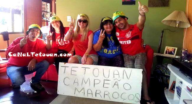 برازيليات من بلاد السامبا يقدمن التهاني للمغرب التطواني