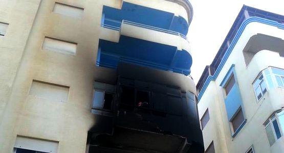 اندلاع حريق بثلاث شقق في عمارة بشارع البستان في مرتيل