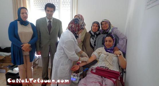 حملة إنسانية للتبرع بالدم بمقر جمعية الوصال للتأهيـل والازدهـار بتطوان