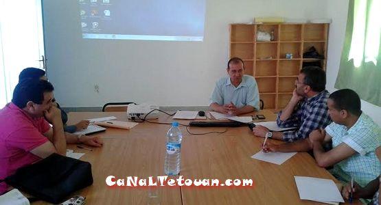 انطلاق لقاءات فريق العمل بإعدادية عبد الخالق الطريس من أجل بناء مشروع المؤسسة