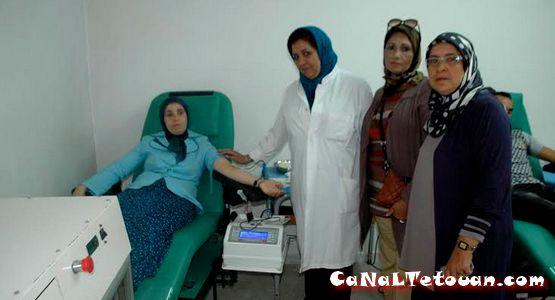 حملة التبرع بالدم لجمعية الجهوية لإتحاد الوطني لنساء المغرب تطوان المنظري