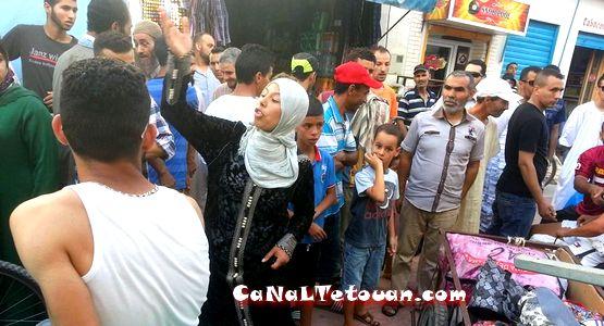 إقتتال وإغماءات في شارع محمد الخامس بمرتيل (صور)