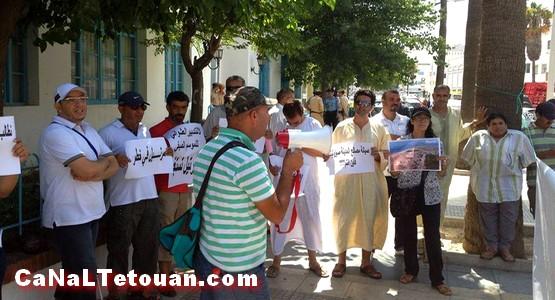 وقفة احتجاجية ضد الاستغلال الفاحش للملك العمومي بمرتيل