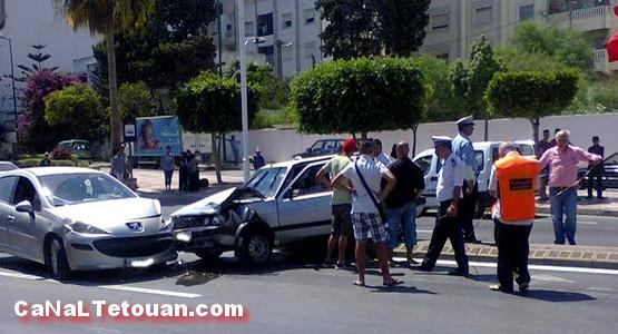 حادثة سير بشارع الجيش الملكي بتطوان