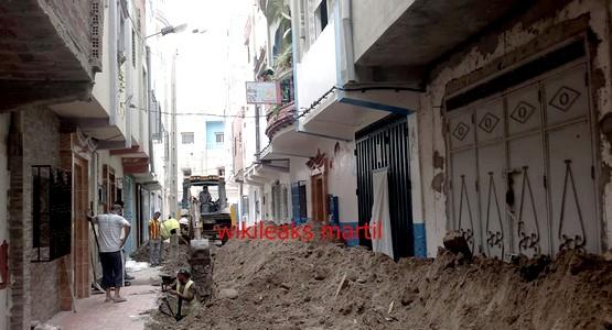 بعد عقود من التهميش الإصلاح يدخل حي الديزة بمرتيل