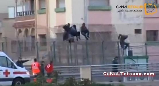 بعد اقتحامهم لسياج مليلية … إسبانيا تحقق حلم 89 مهاجرا!