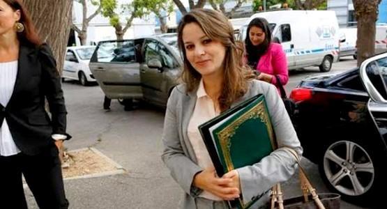الوزيرة التطوانية اشرفات أفيلال تصل الى فلسطين !