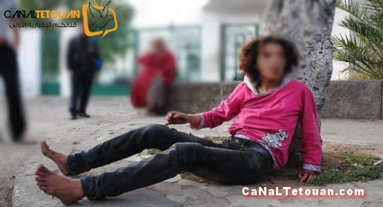 تطوان : متشردة تعتدي على شاب بعدما حاول اغتصابها !