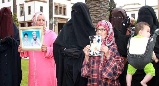 إنزال أمني لتطويق احتجاجات عائلات السلفيين أمام مقر حزب بنكيران